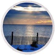 Hope Is On The Horizon Round Beach Towel