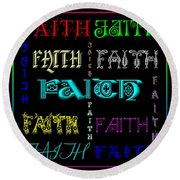 Faith Round Beach Towel