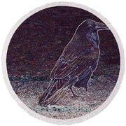 Faithful Raven Round Beach Towel