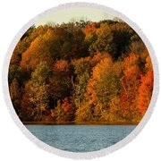 Fall Abounds Round Beach Towel