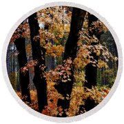 Fall Beckons  Round Beach Towel