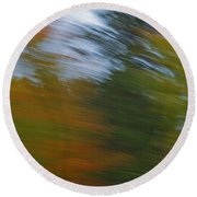 Fall Blur Round Beach Towel