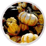 Fall Bounty Round Beach Towel
