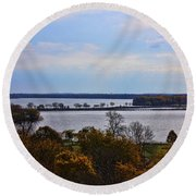 Fall Colors In Madison Round Beach Towel