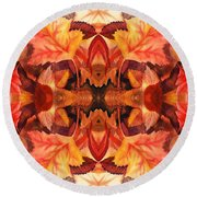 Fall Decor Round Beach Towel
