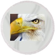 Fall Eagle 3 Round Beach Towel