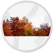 Fall Filled Sky Round Beach Towel
