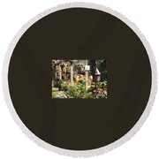 Fall Garden Round Beach Towel