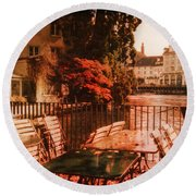 Fall In Lucerne Switzerland Round Beach Towel