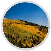 fall in Ruidoso Round Beach Towel