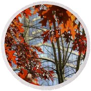Fall In The City 1 Round Beach Towel