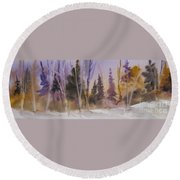 Fall In The Country Round Beach Towel