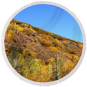 Fall In The Mountains Round Beach Towel