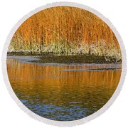 Fall In Yellowstone National Park Round Beach Towel