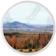 Fall Landscape Round Beach Towel