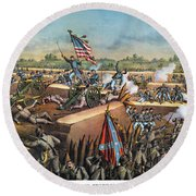 Fall Of Petersburg, 1865 Round Beach Towel