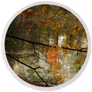 Fall River Branches Round Beach Towel