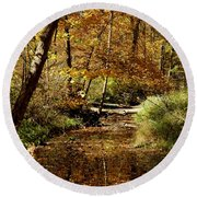 Fall River Colors Round Beach Towel