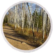 Fall Trail Scene 35 A Round Beach Towel