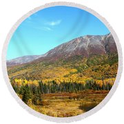 Fall Valley Round Beach Towel
