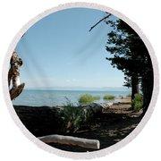 Fallen For Lake Tahoe Round Beach Towel