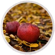 Fallen Fruit Round Beach Towel