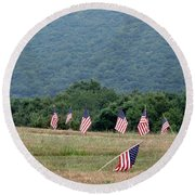 Fallen Soliders Round Beach Towel