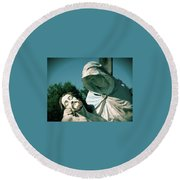 Fallen Son Round Beach Towel