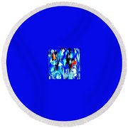 Fallic Breeze Round Beach Towel