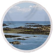 Falling Tide Iles Chausey Round Beach Towel