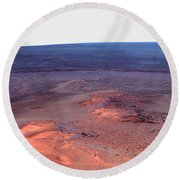 False Color Mosaic Of Greeley Haven Round Beach Towel