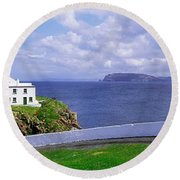 Fanad Head Lighthouse, Co Donegal Round Beach Towel