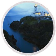 Fanad Head Lighthouse, County Donegal Round Beach Towel
