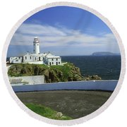 Fanad Lighthouse, Co Donegal, Ireland Round Beach Towel