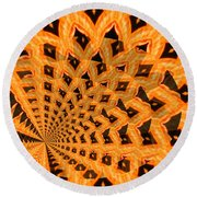 Fancy Coral Round Beach Towel
