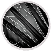 Fanned Leaves Round Beach Towel