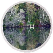 Farewell To Summer - Digital Painting Round Beach Towel