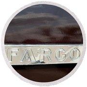 Fargo Round Beach Towel