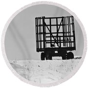 Farm Wagon Round Beach Towel