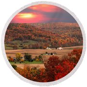 Farmers Of Paint Valley Round Beach Towel