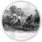 Farming, C1870 Round Beach Towel