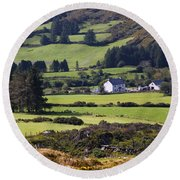 Farmland Near Kilgarvan County Kerry Round Beach Towel