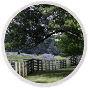 Farmland Shade Appomattox Virginia Round Beach Towel