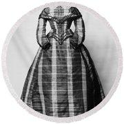 Fashion: Dress, C1865 Round Beach Towel