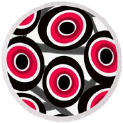 Fashion Spots  Round Beach Towel