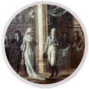 Fashionable Parisians, 1799 Round Beach Towel