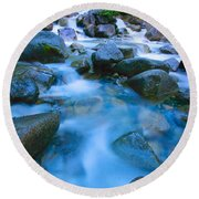 Fast-flowing River Round Beach Towel