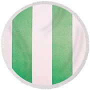 Faux Leather Background Round Beach Towel