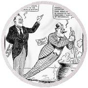 F.d. Roosevelt Cartoon Round Beach Towel