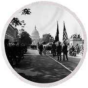 Fdr: Funeral, 1945 Round Beach Towel
